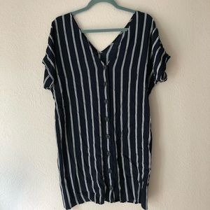 Drapey Madewell Striped Plaza Dress XS